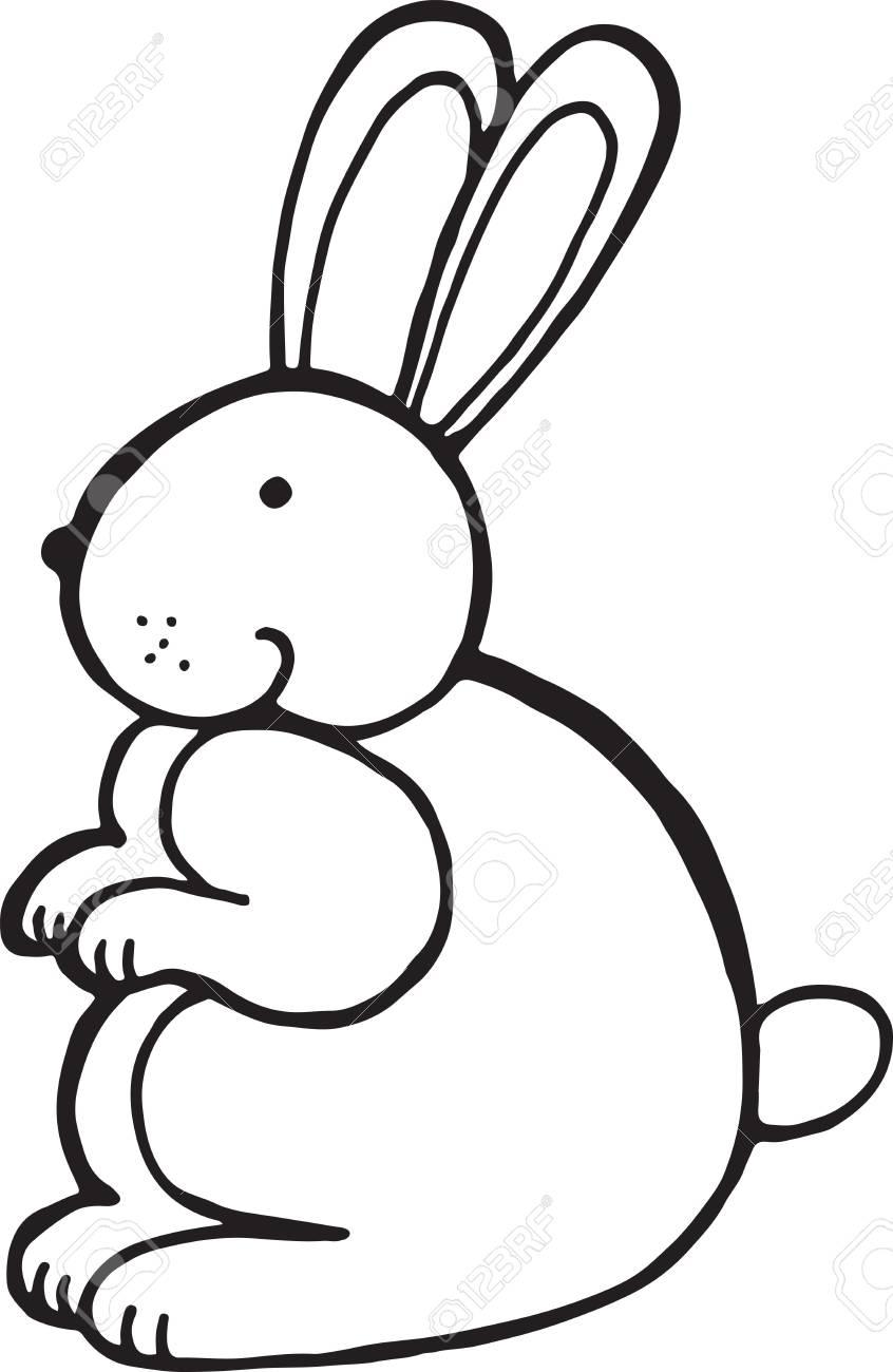 Forest Animal Rabbit Doodle Cartoon Simple Illustration Kids
