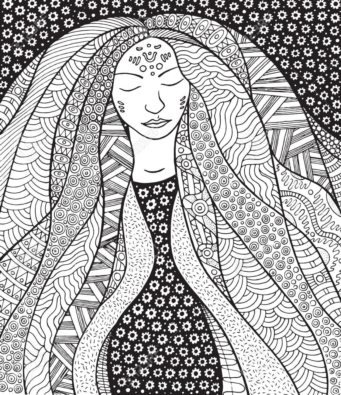 Aurora Borealis Goddess Girl Instant Download DIY Printable | Etsy | 1300x1122