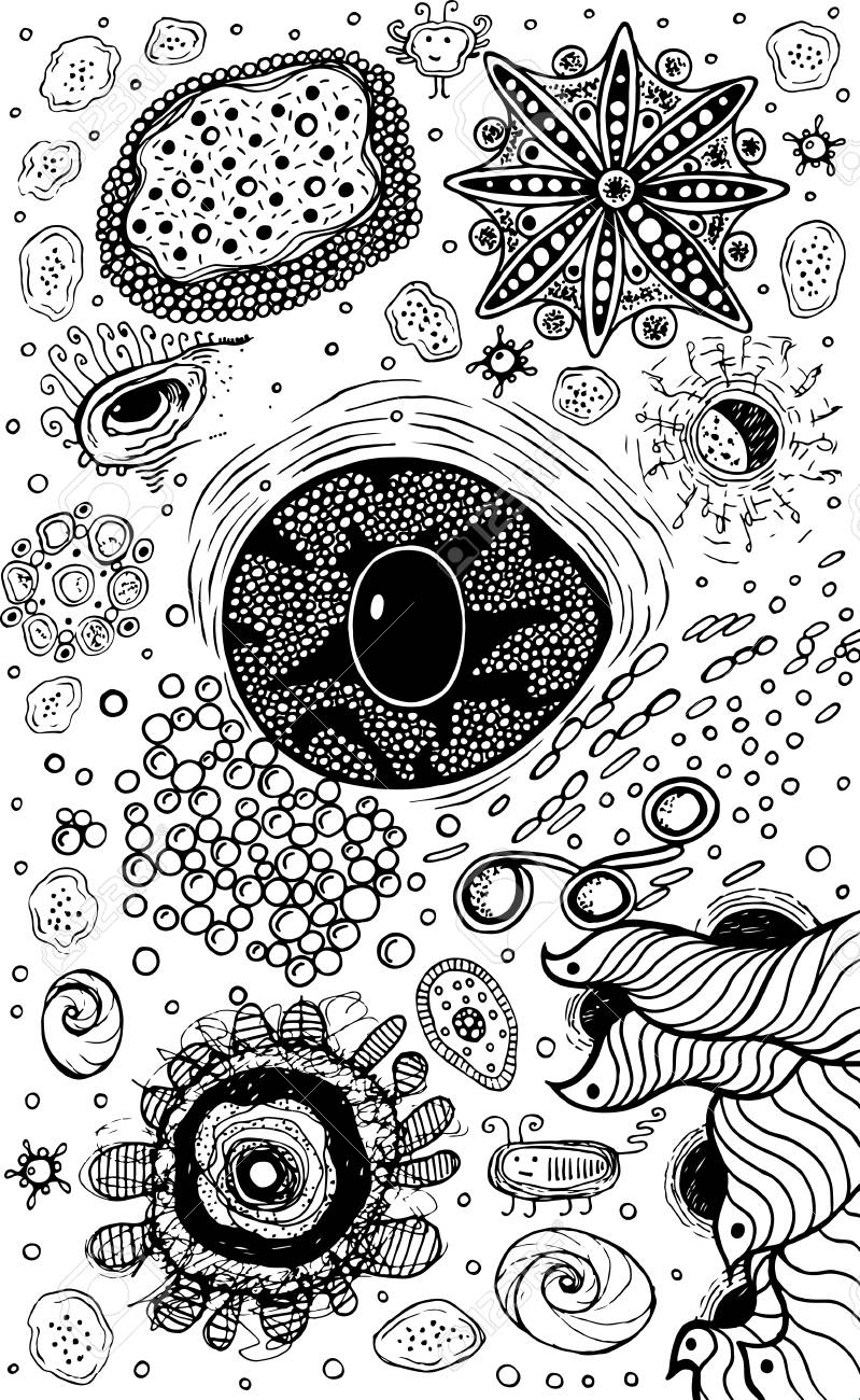 Psychedelic Abstract Ink Abstract Sketch With Eye Surreal Weird