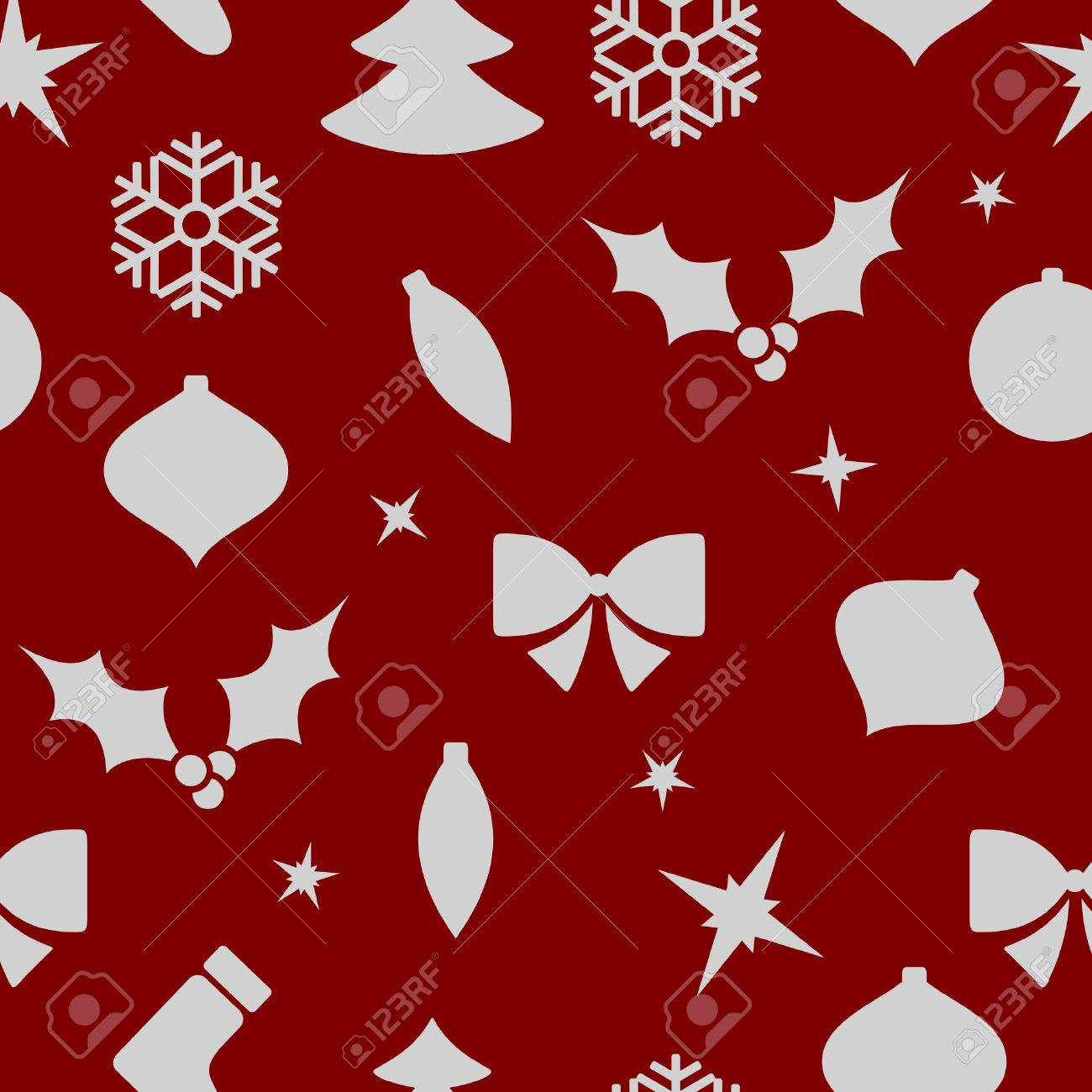 Modern Christmas New Year Background, Seamless Tiling, Paper ...