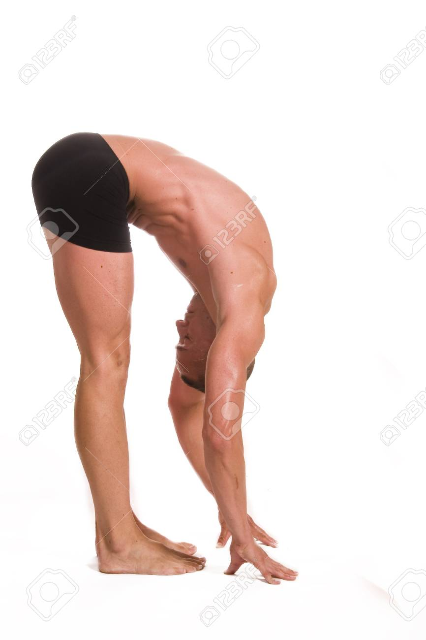 young sportsman stretching Stock Photo - 4524547
