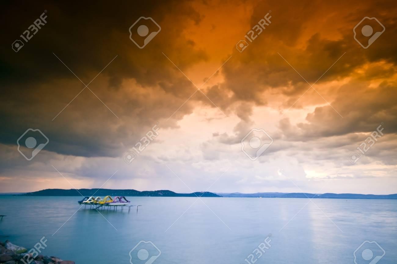 storm over the lake Balaton Stock Photo - 5223134