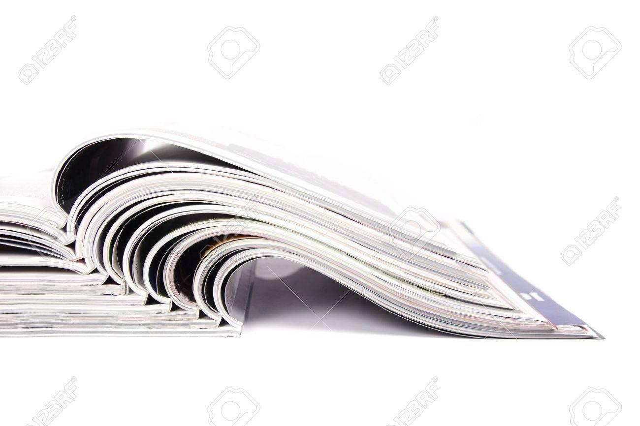 Magazines over white Standard-Bild - 6602498