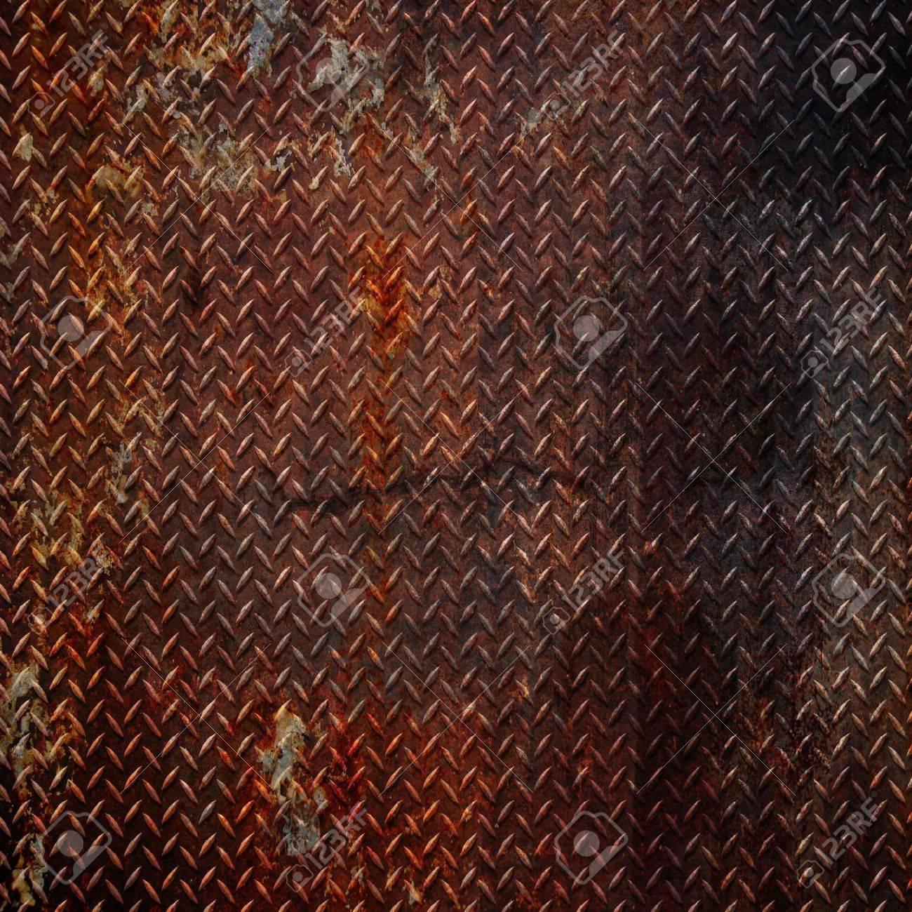 grunge diamond metal background Stock Photo - 7419579