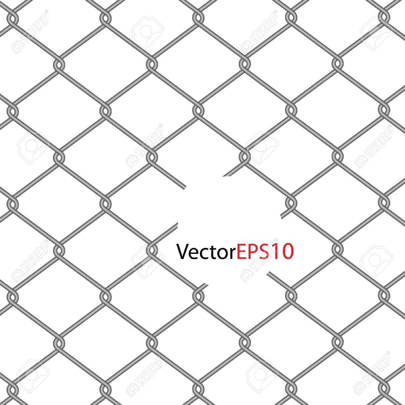 chain Fence. Vector illustration Stock Vector - 9364669