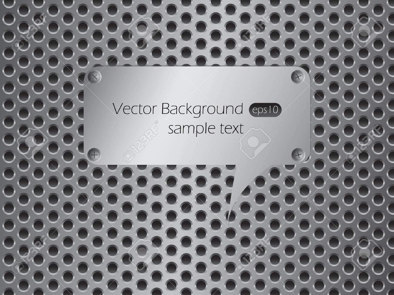 Metallic speech bubble. Stock Vector - 9583912