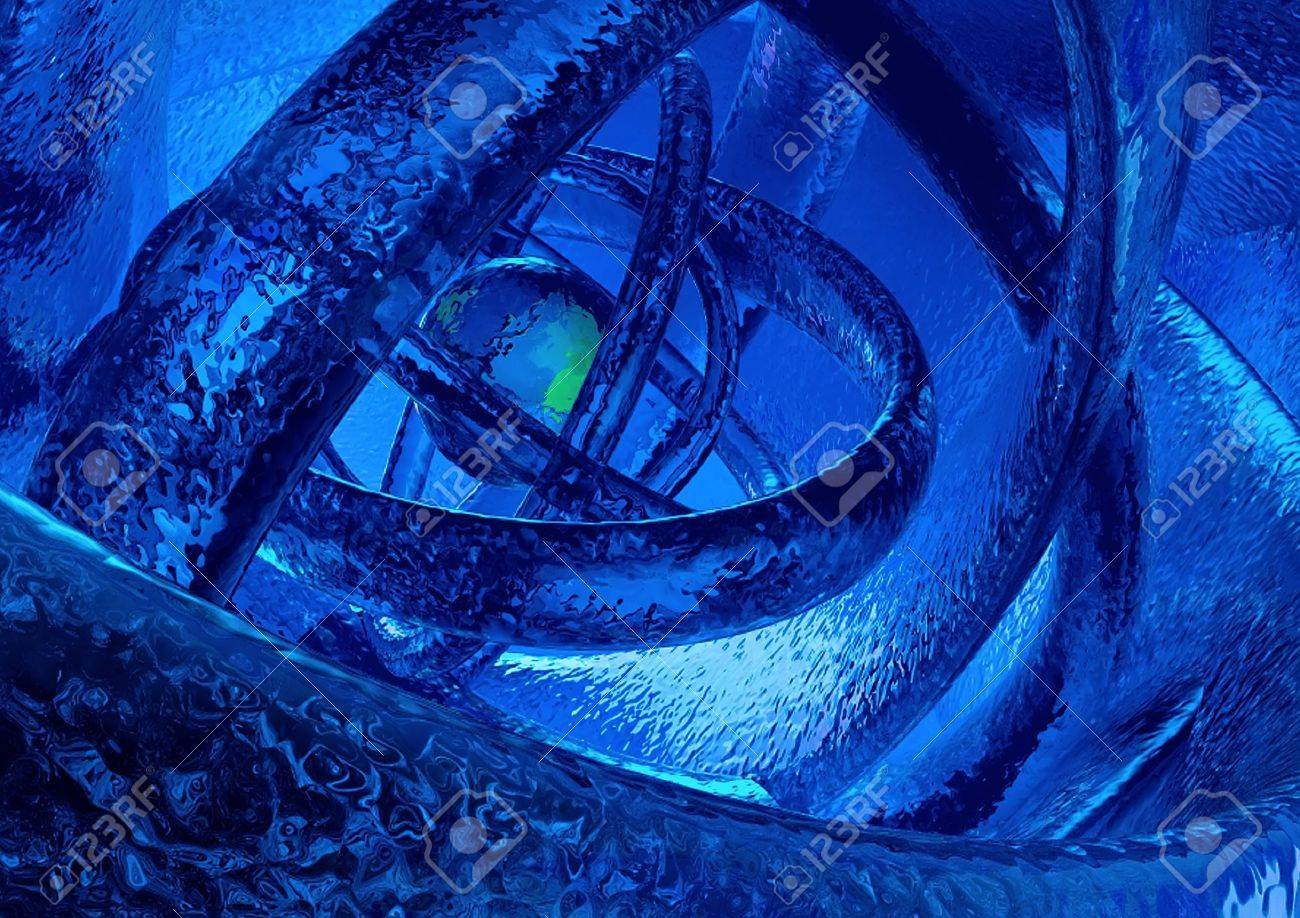 textured 3D abstract frozen world Stock Photo - 9811259