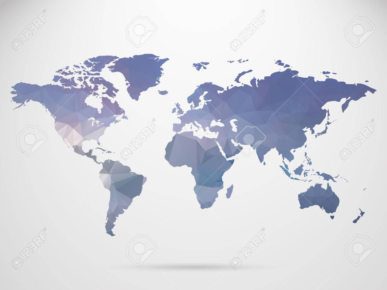 World Map Background In Polygonal Style Background Royalty Free