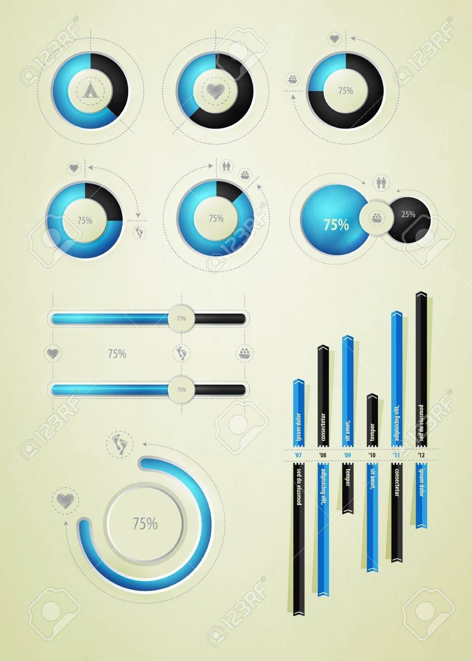 infographics element on water and liquid - 10951433