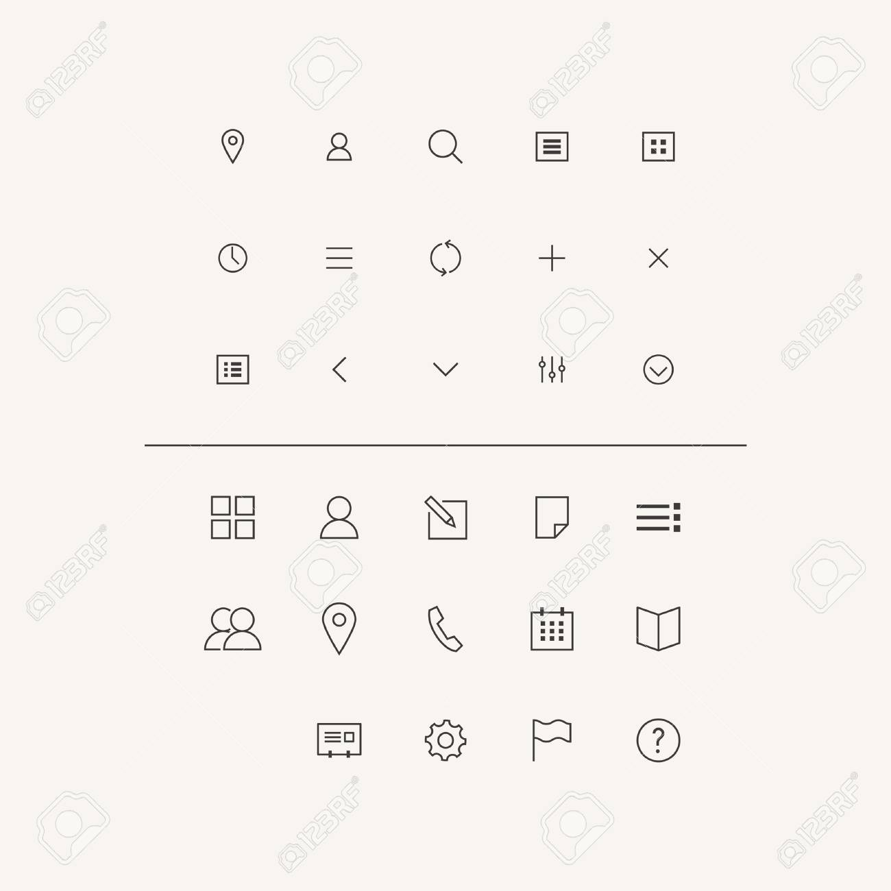 Vector Icons Set in Flat Style Stock Vector - 29728137