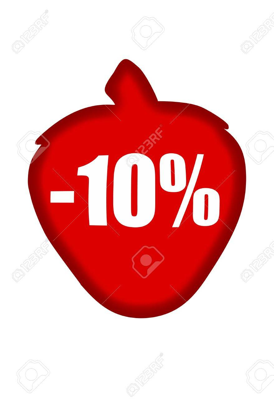 Minus 10 percent Stock Photo - 11569149