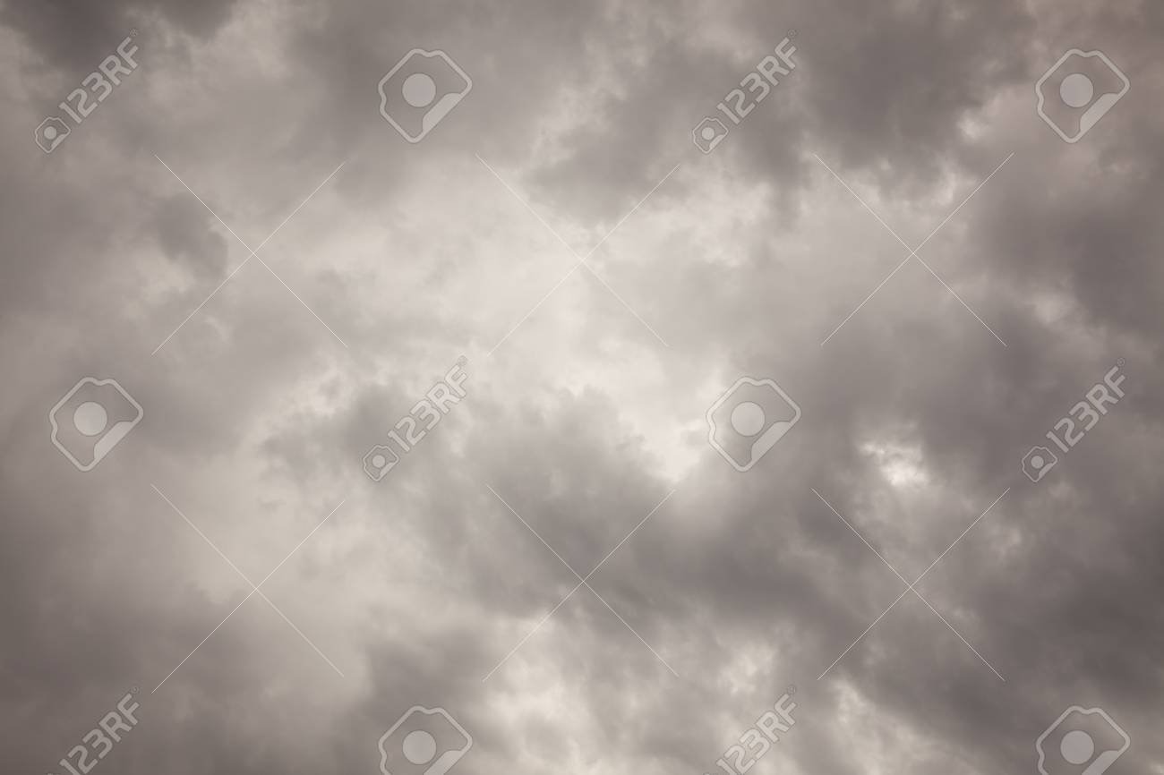 Ominous Dark Cloudy Stormy Sky Background Image. Stock Photo - 7374806