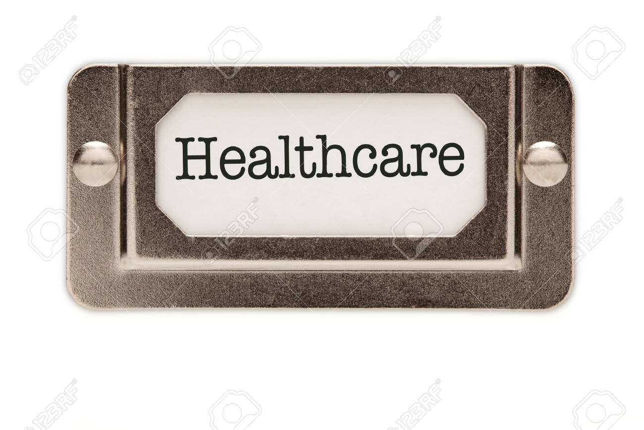 Healthcare File Drawer Label Isolated on a White Background. Stock Photo - 7438784