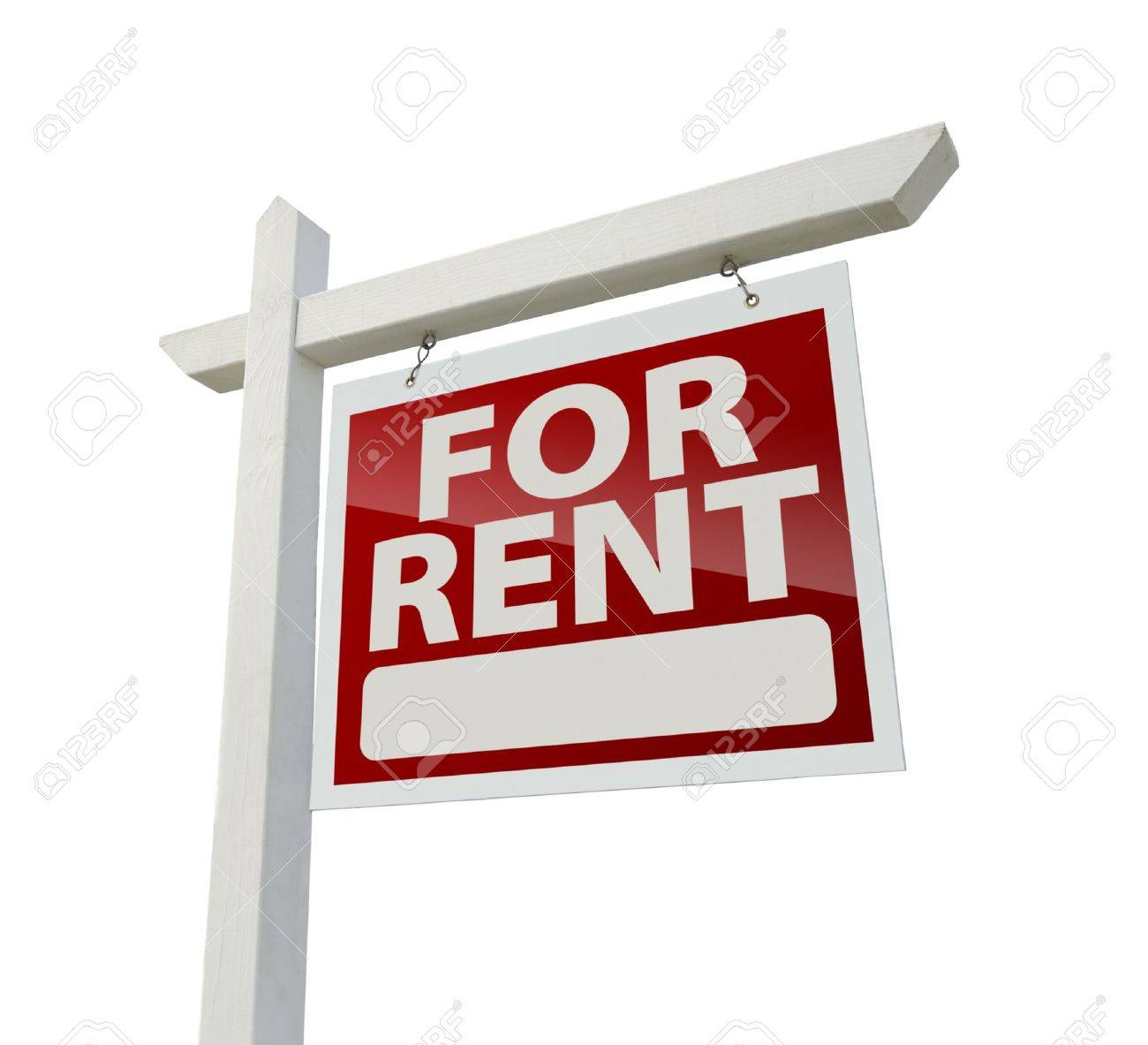 Right Facing For Rent Real Estate Sign Stock Photo - 9093773