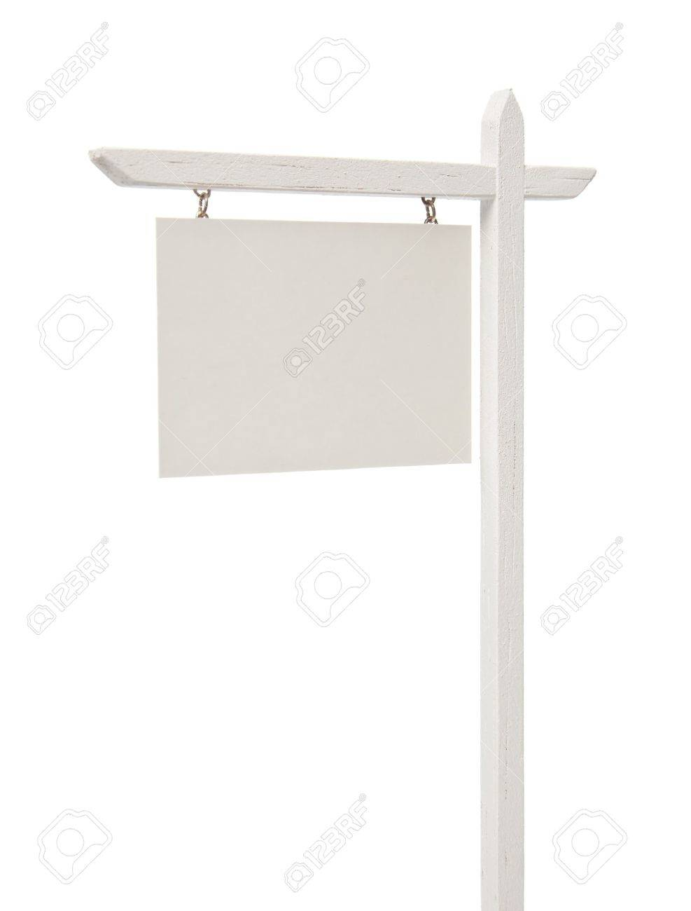 Blank Real Estate Sign Isolated on a White Background. Stock Photo - 9589795