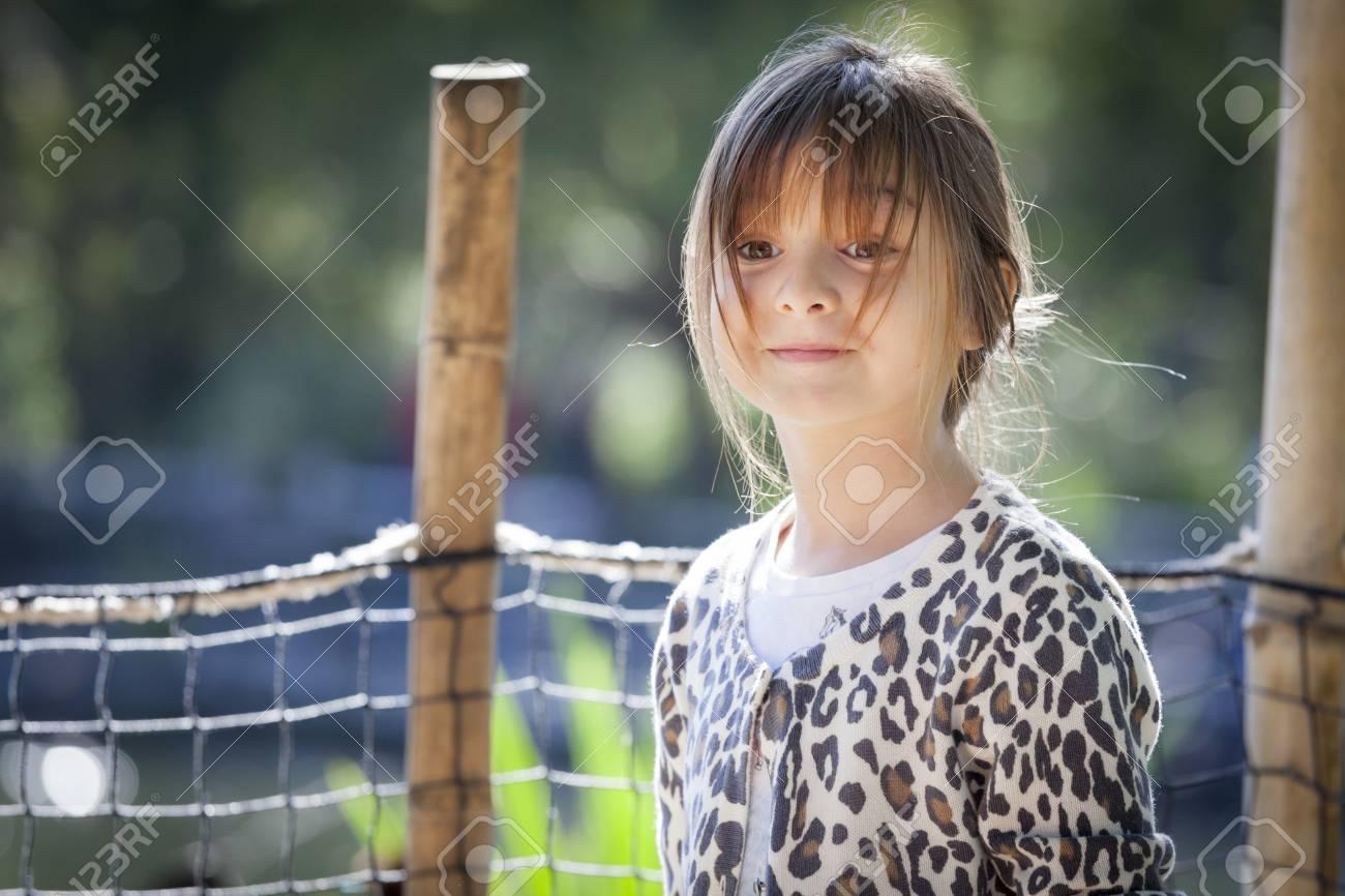 Pretty Young Child Girl Portrait Outside. Stock Photo - 19126441