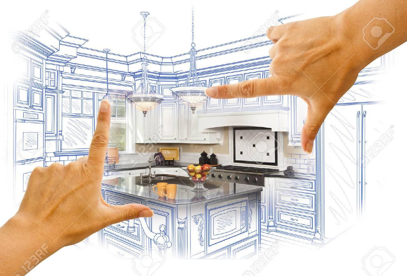 Manos Mujer Enmarcado Personalizado Cocina, Diseño, Dibujo Y Foto ...