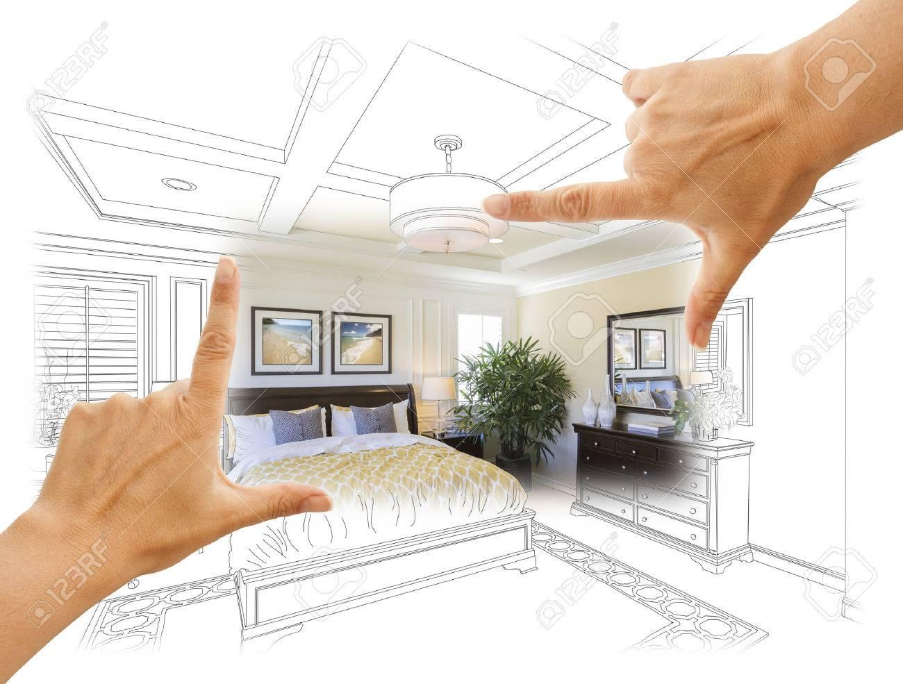 Schöne Hände Rahmung Individuelle Schlafzimmer Zeichnung Fotografie ...