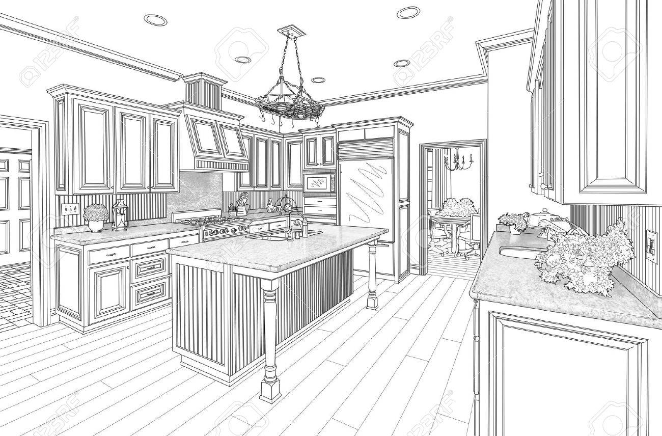 Kitchen Design Drawings kitchen design drawing | winda 7 furniture