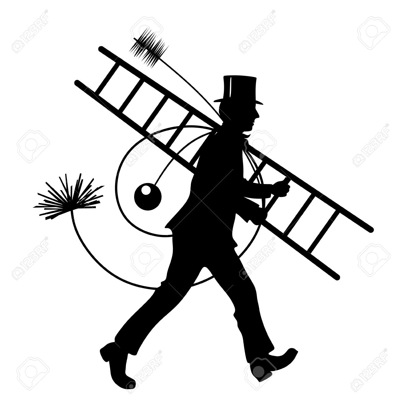 stylized illustration of chimney sweeper at work stock photo rh 123rf com Eye Vector Business Vector