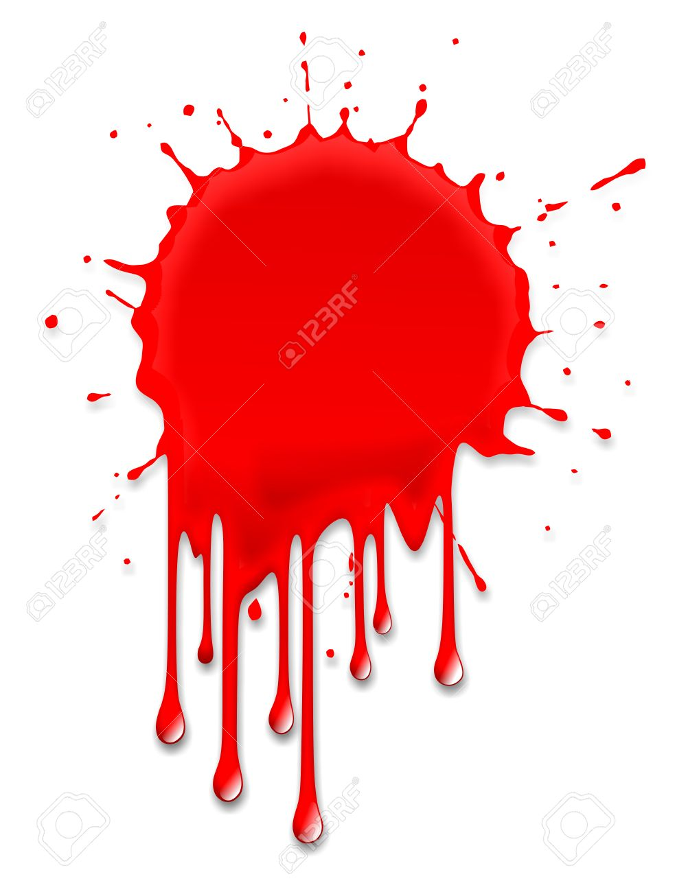 Illustration Of A Blood Splash On Halloween Stock Photo Picture And