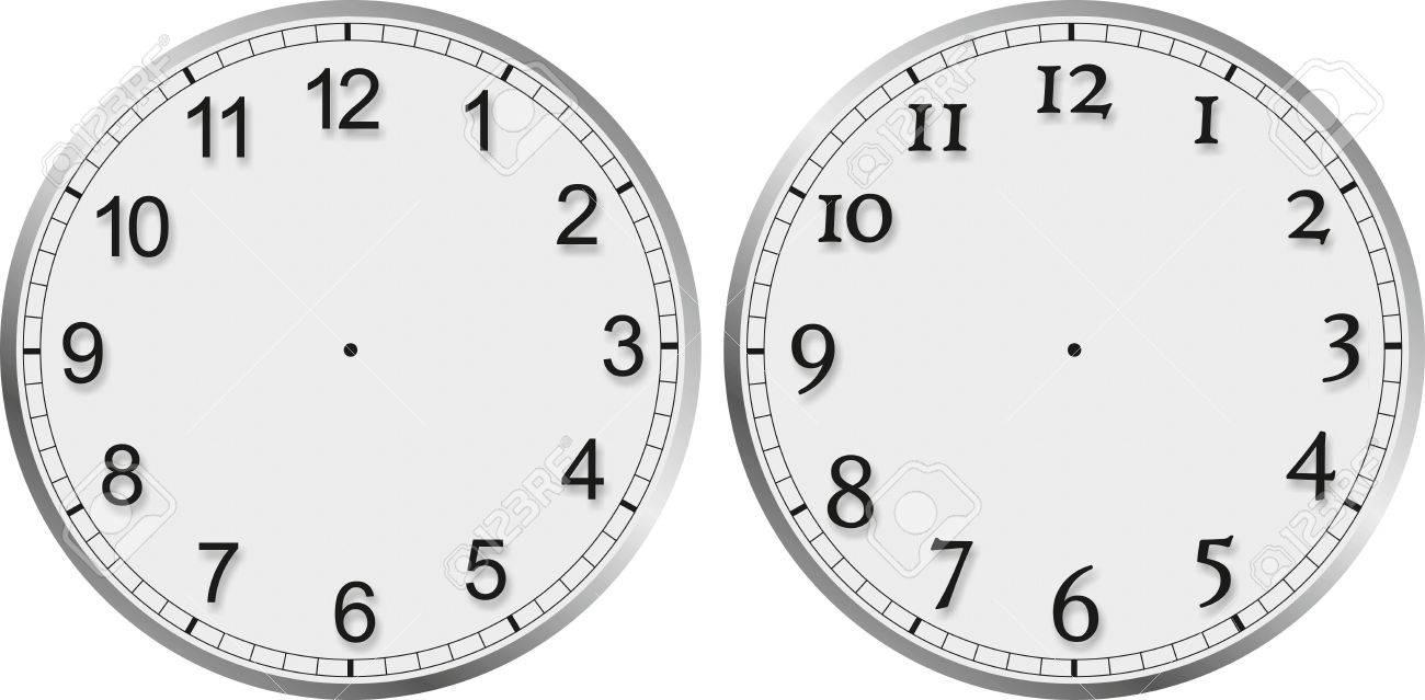 Observar El Rostro Con Diferentes Números Sin Manecillas Del Reloj