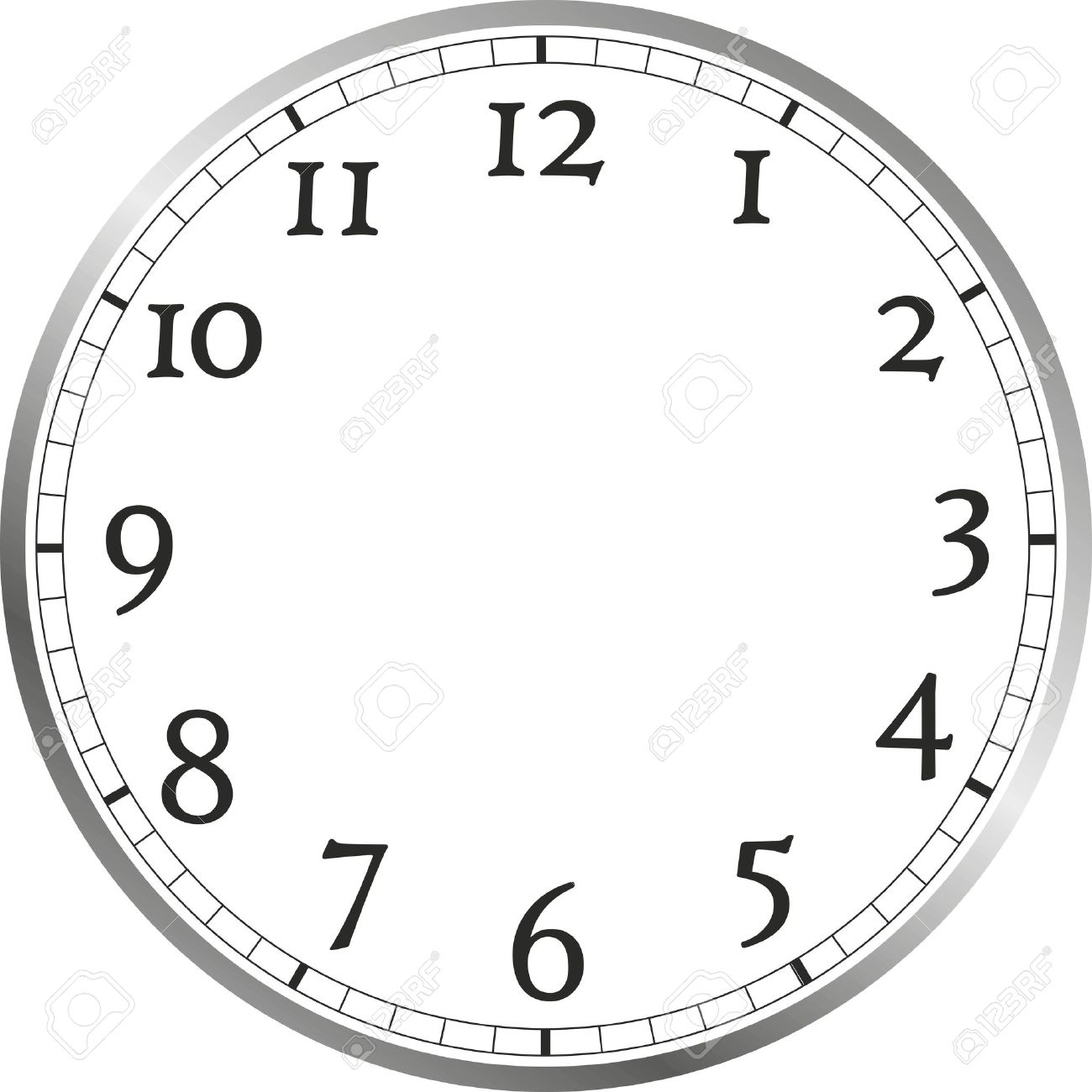 Uhr ohne zeiger vorlage  Große Ziffernblatt Mit Zahlen, Ohne Zeiger Lizenzfreie Fotos ...