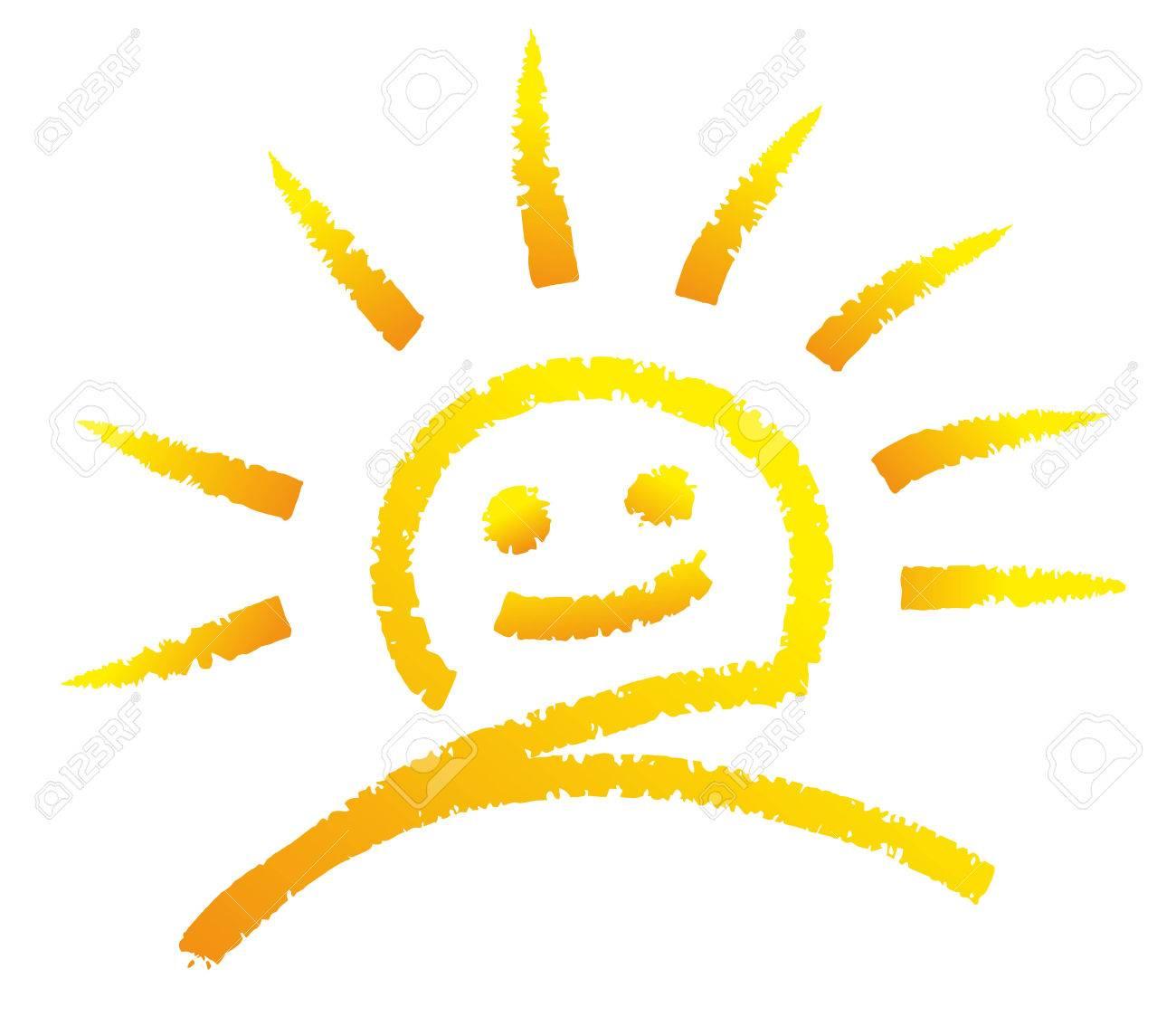 illustration of a sun drawn with chalk royalty free cliparts rh 123rf com Coffee Chalk Vector Free Download Coffee Chalk Vector Free Download