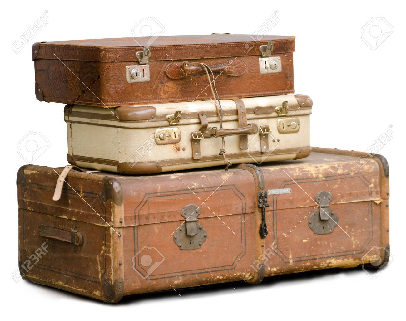 Old Suitcases Part - 18: Picture Of A Stack Of Old Suitcases Stock Photo - 24645195