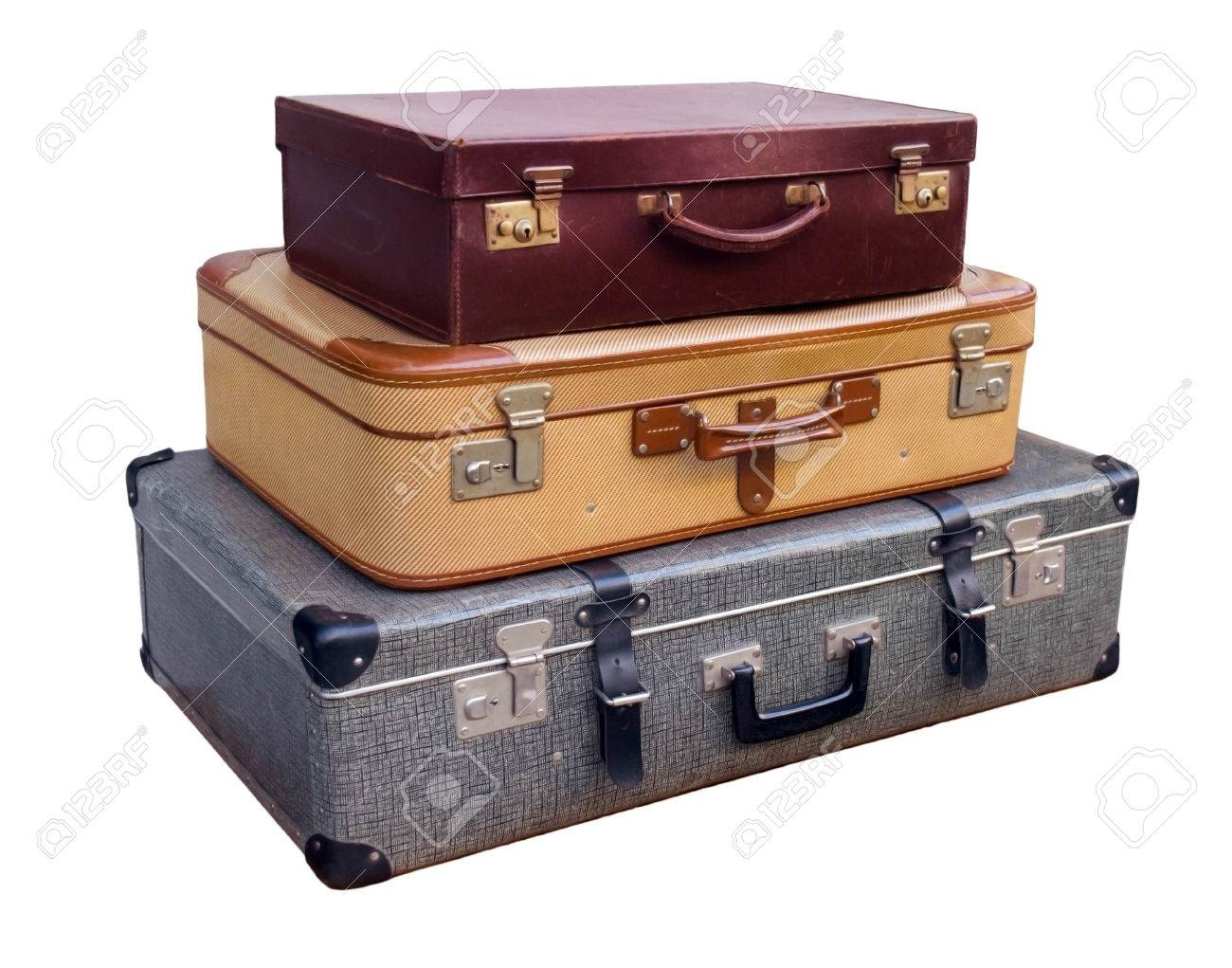 Old Suitcases Part - 29: Picture Of A Stack Of Old Suitcases Stock Photo - 24645194