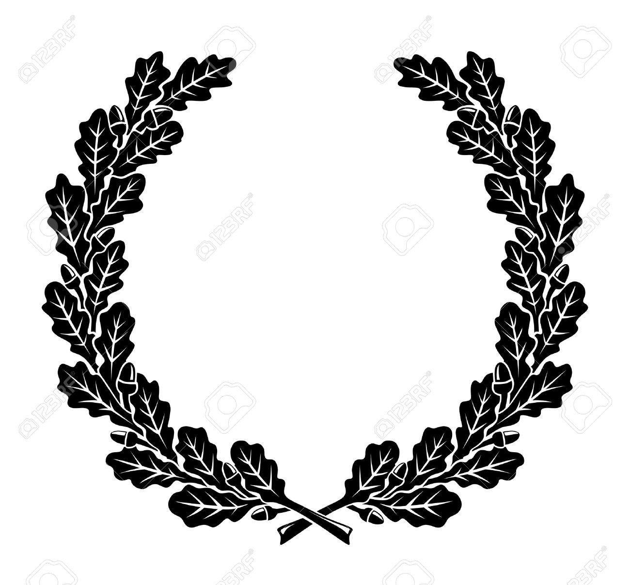 a simplified wreath made of oak leaves royalty free cliparts rh 123rf com oak leaf wreath vector oak leaf wreath vector