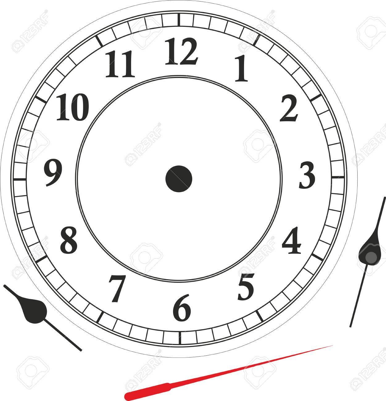 Très Orologio Faccia Con Le Rispettive Mani Per Imparare L'orologio  NH92