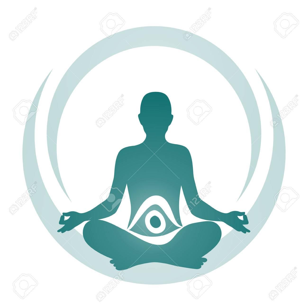 simplified symbol for a meditative yoga practice Stock Vector - 28939899