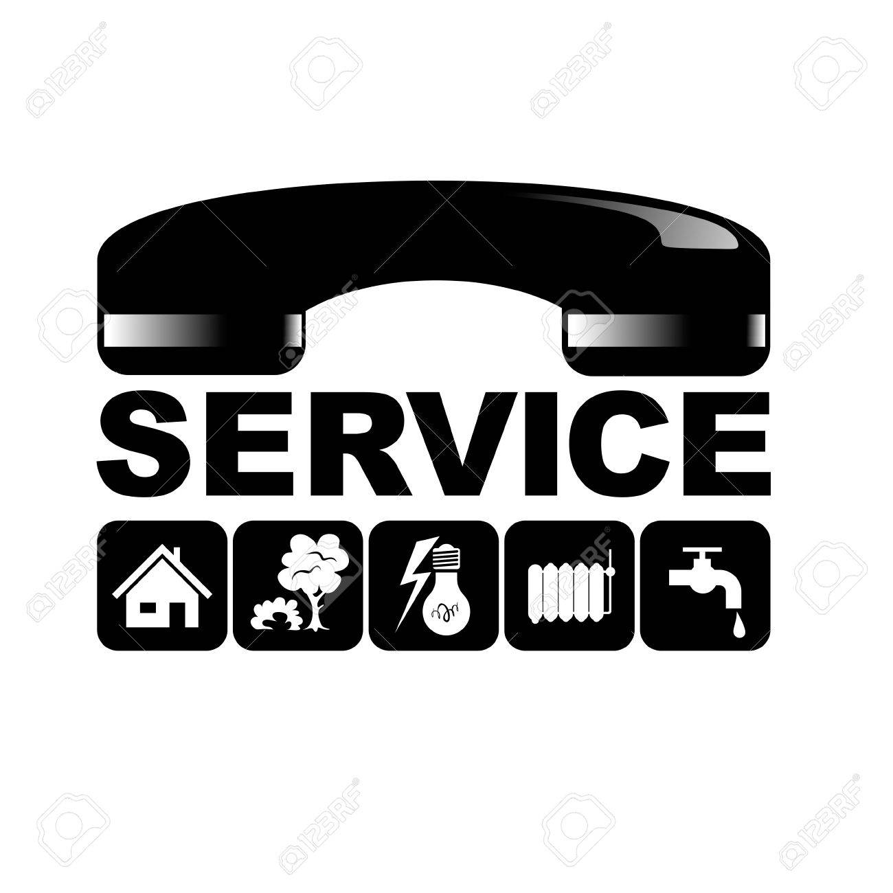 Symbol For Facility Management With Different Services Stock Photo