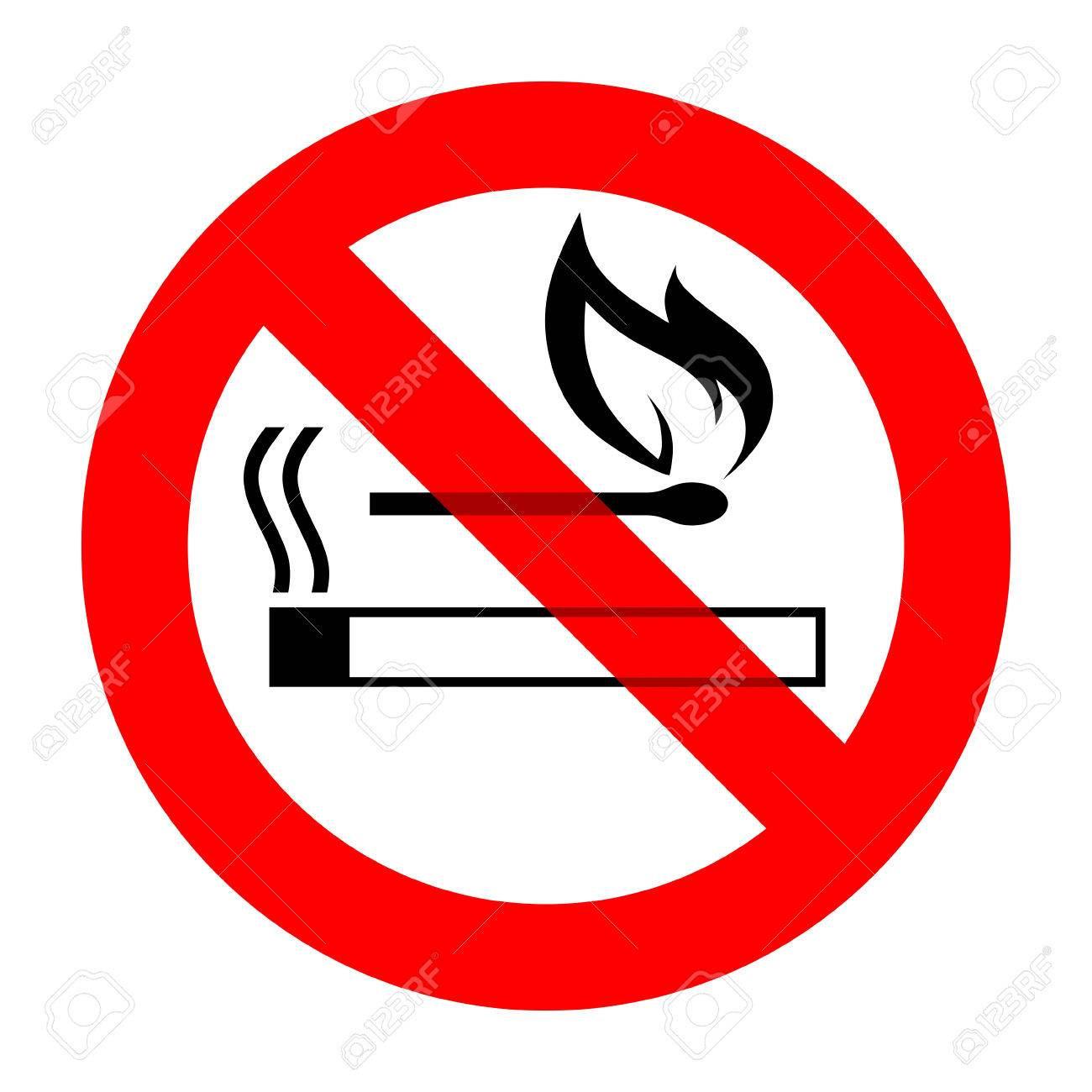 No Smoking And Open Fire Sign Template Stock Photo, Picture And ...