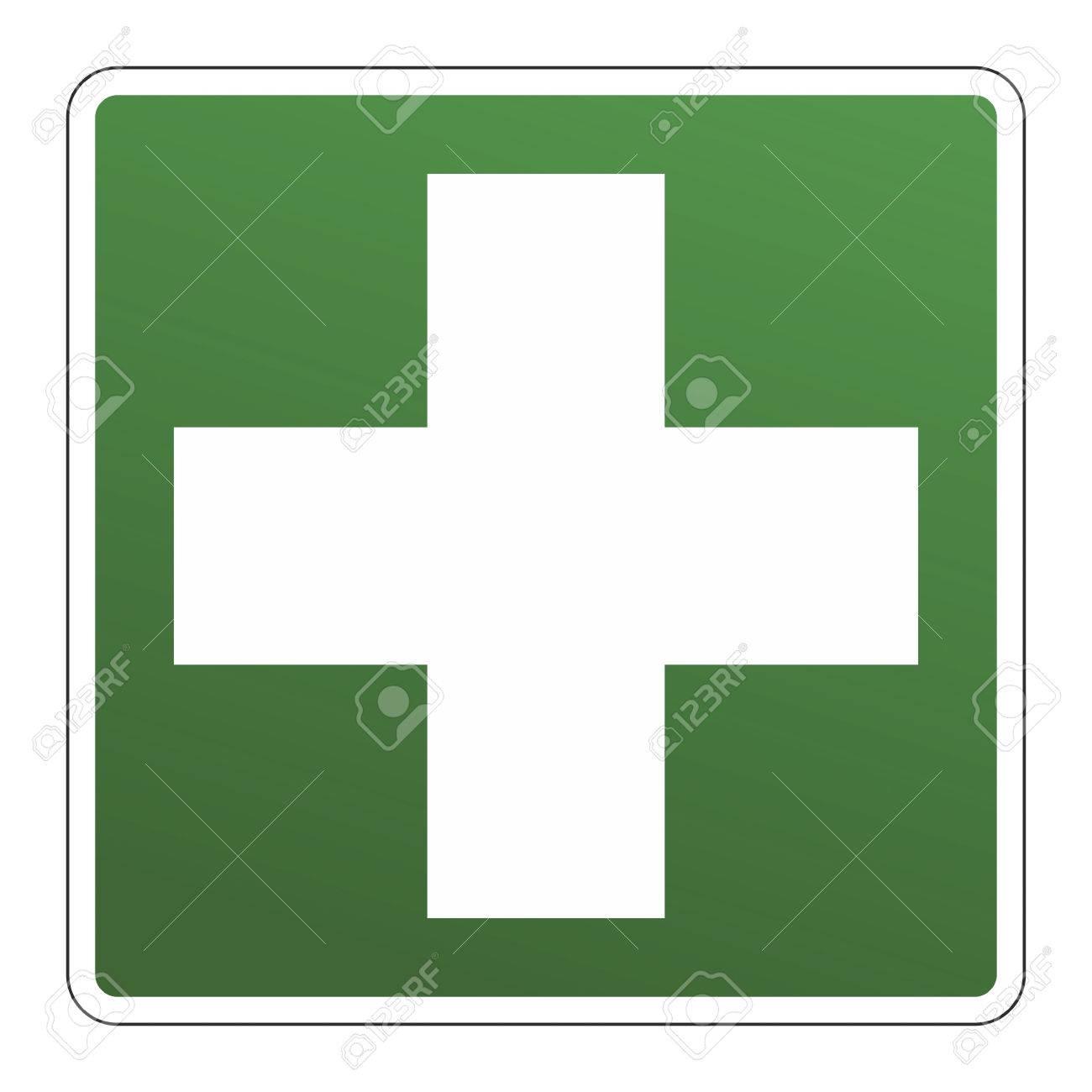 Zeichen Für Die Position Eines Erste-Hilfe-oder Hausapotheke ... | {Sanitäter symbol 50}