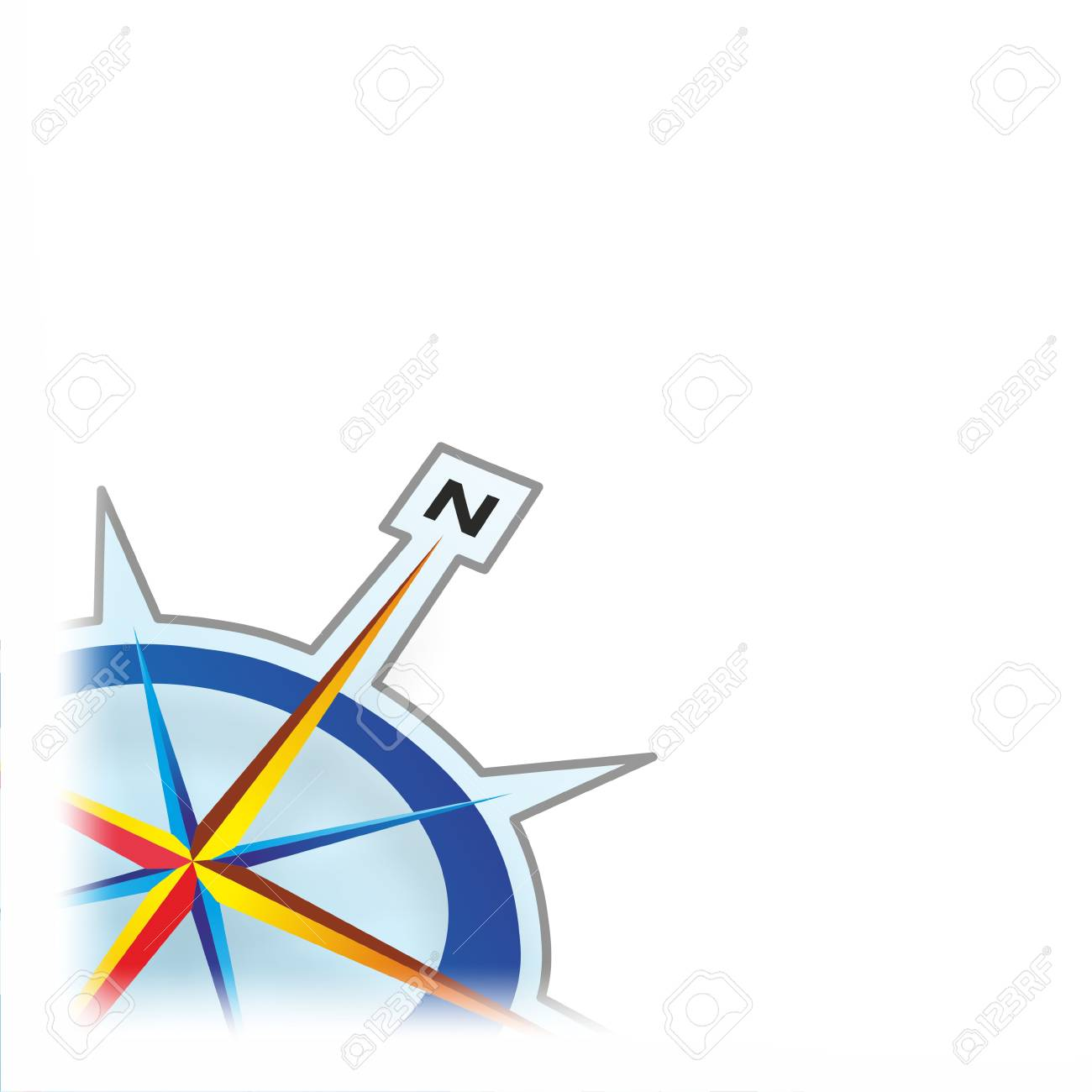 detail of a compass rose as a template stock photo picture and