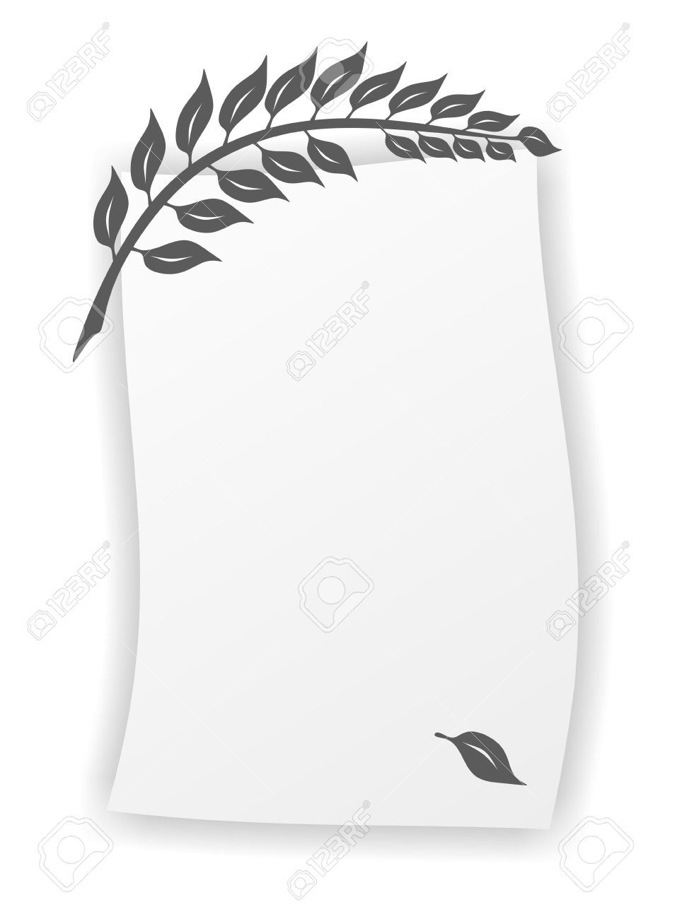 Simplified Twig As Template For A Death Notice Stock Photo, Picture ...