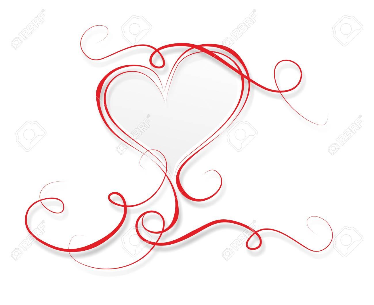 Modèle pour mariage ou Saint Valentin avec le coeur