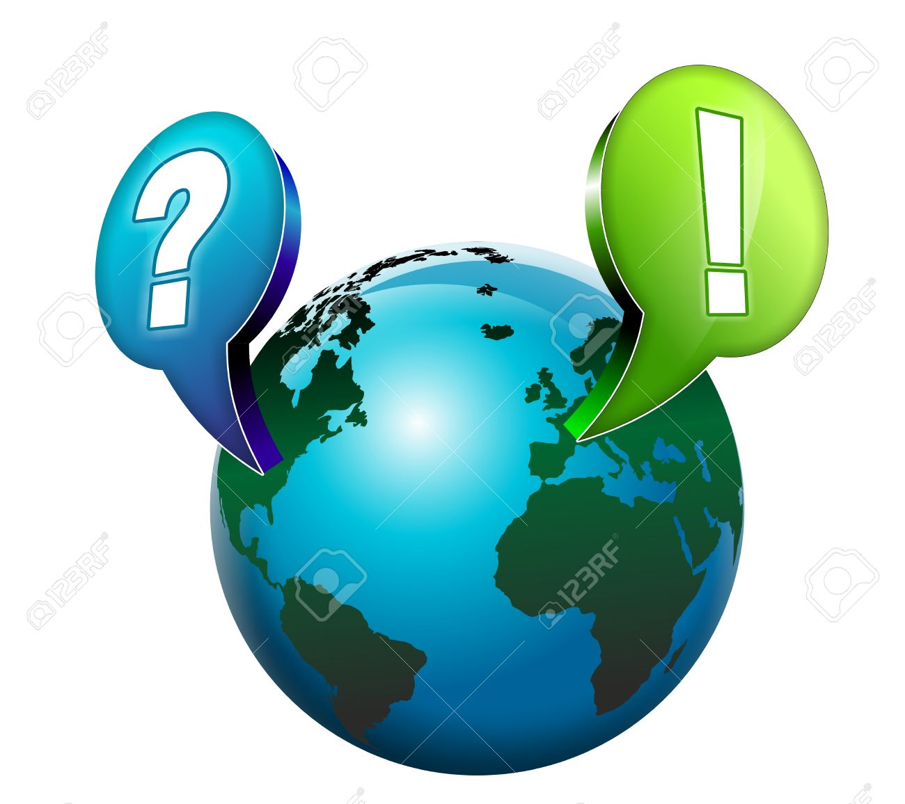 Image result for globe with question mark