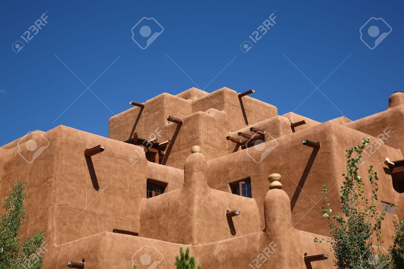 Adobe Building Southwest Adobe Style Architecture With A Bright