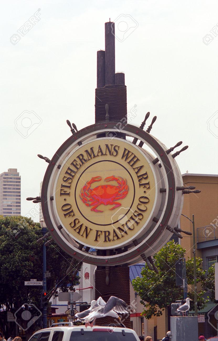 San Francisco, California - September 20, 2007: Famous Fishermans Wharf sign. Stock Photo - 13257284