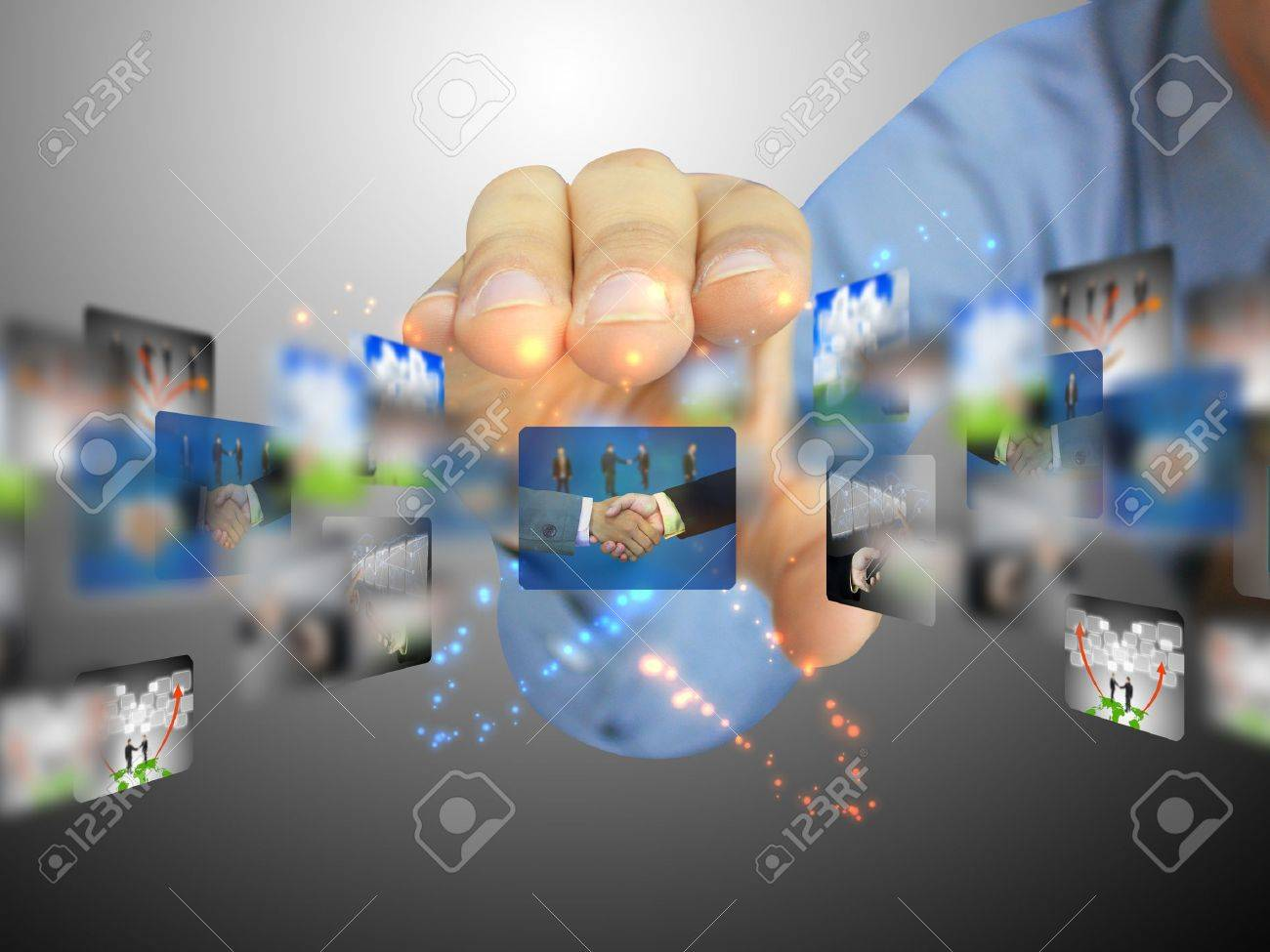 hand holding business collection Stock Photo - 10905726