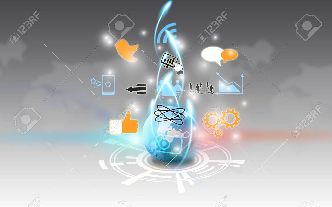Social media,social network concept Stock Photo - 22695959