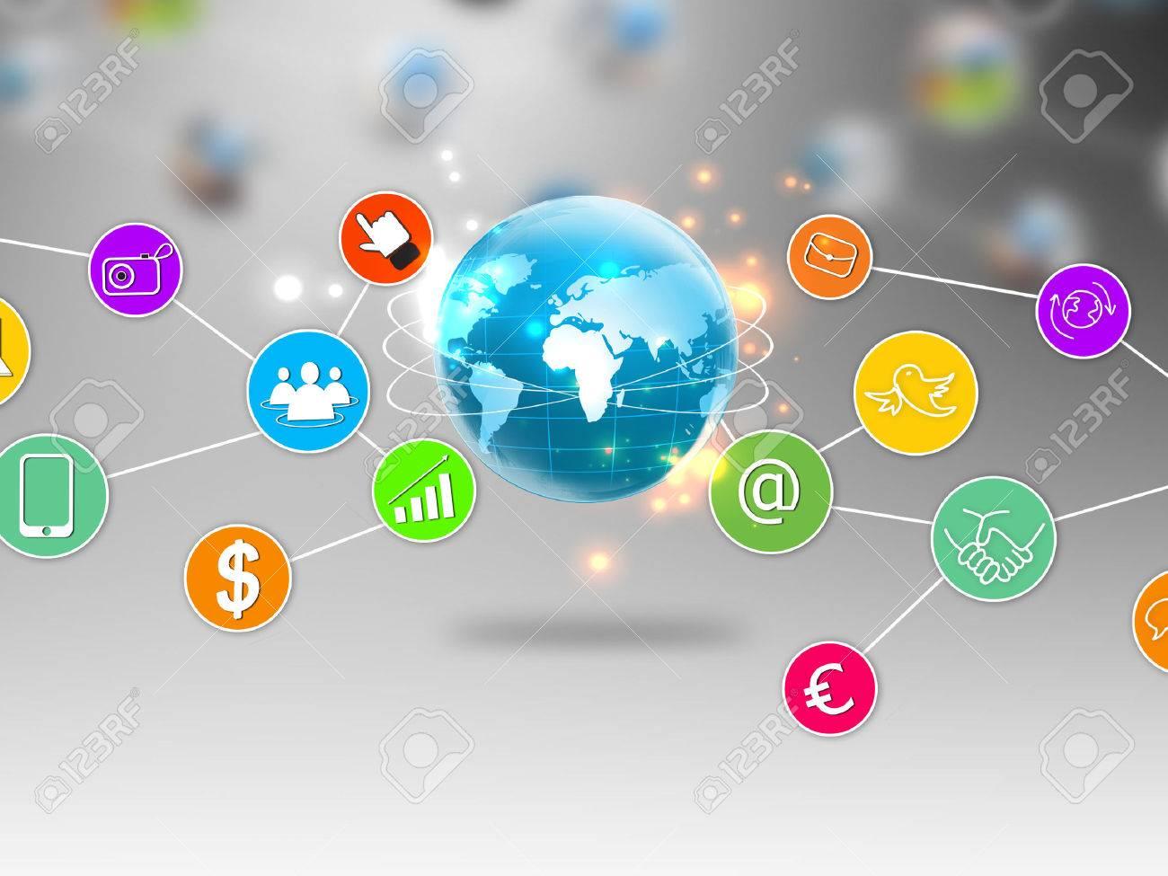Social media and social network concept - 25320557