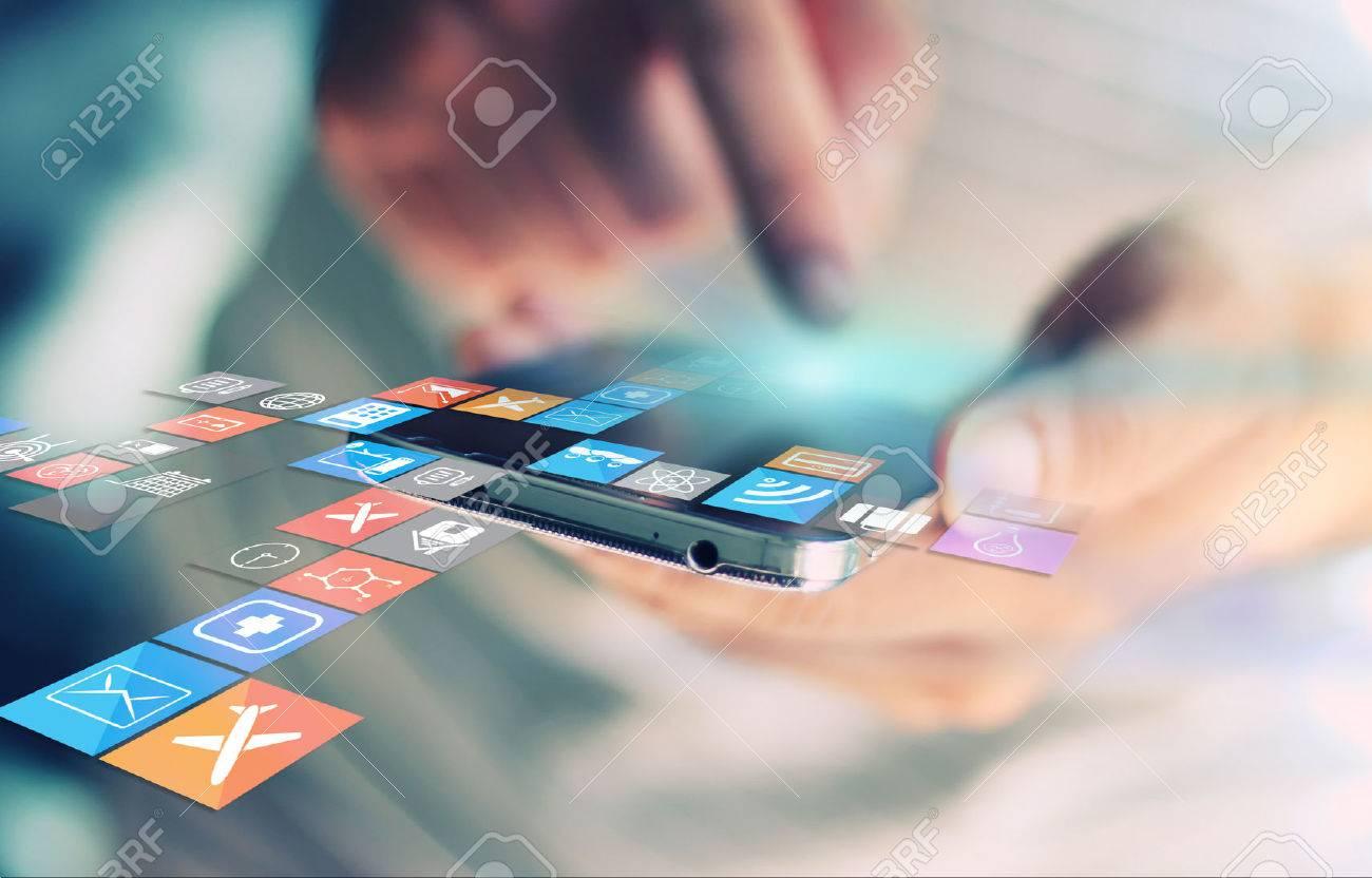 Social media,social network concept. Stock Photo - 34610527