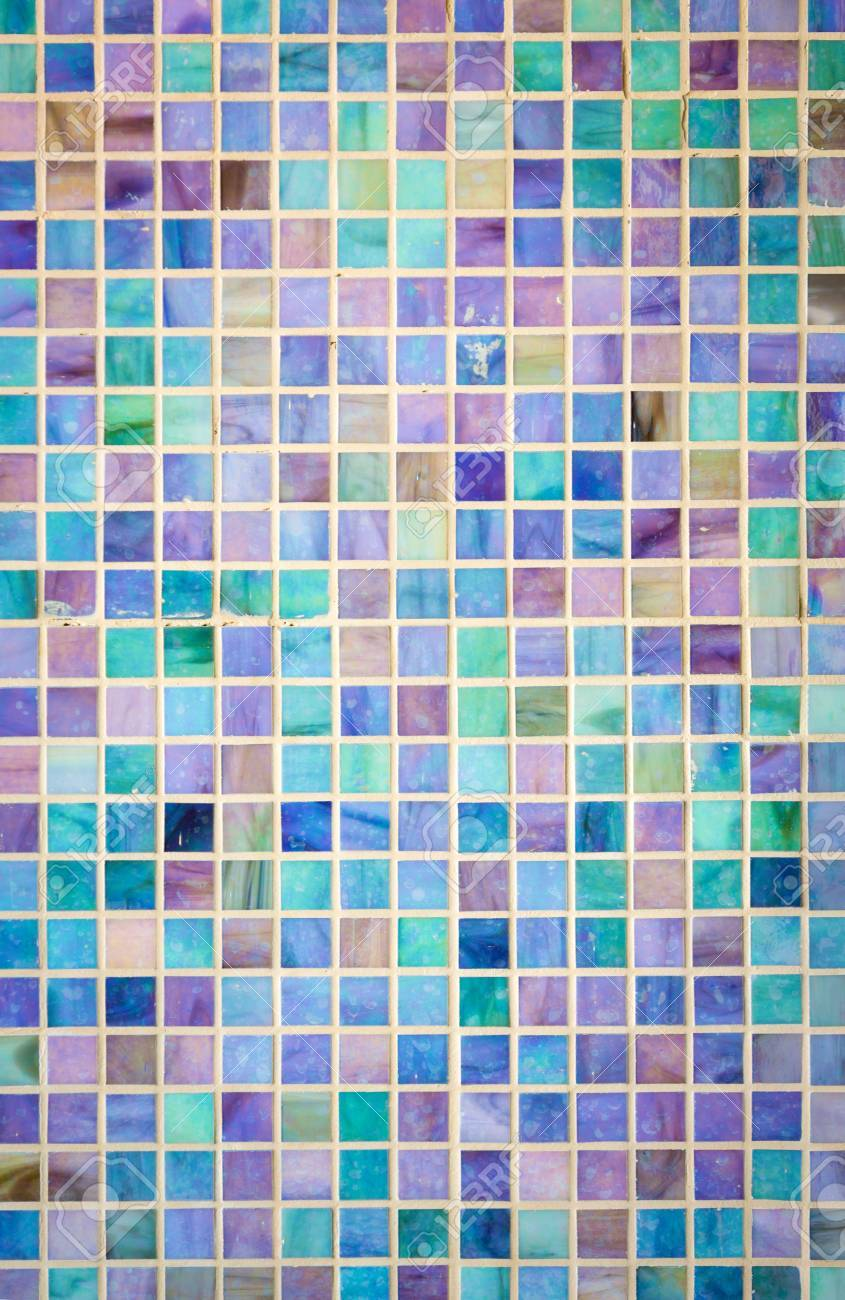 Colorful Mosaic Glass Tile Wall Stock Photo, Picture And Royalty ...