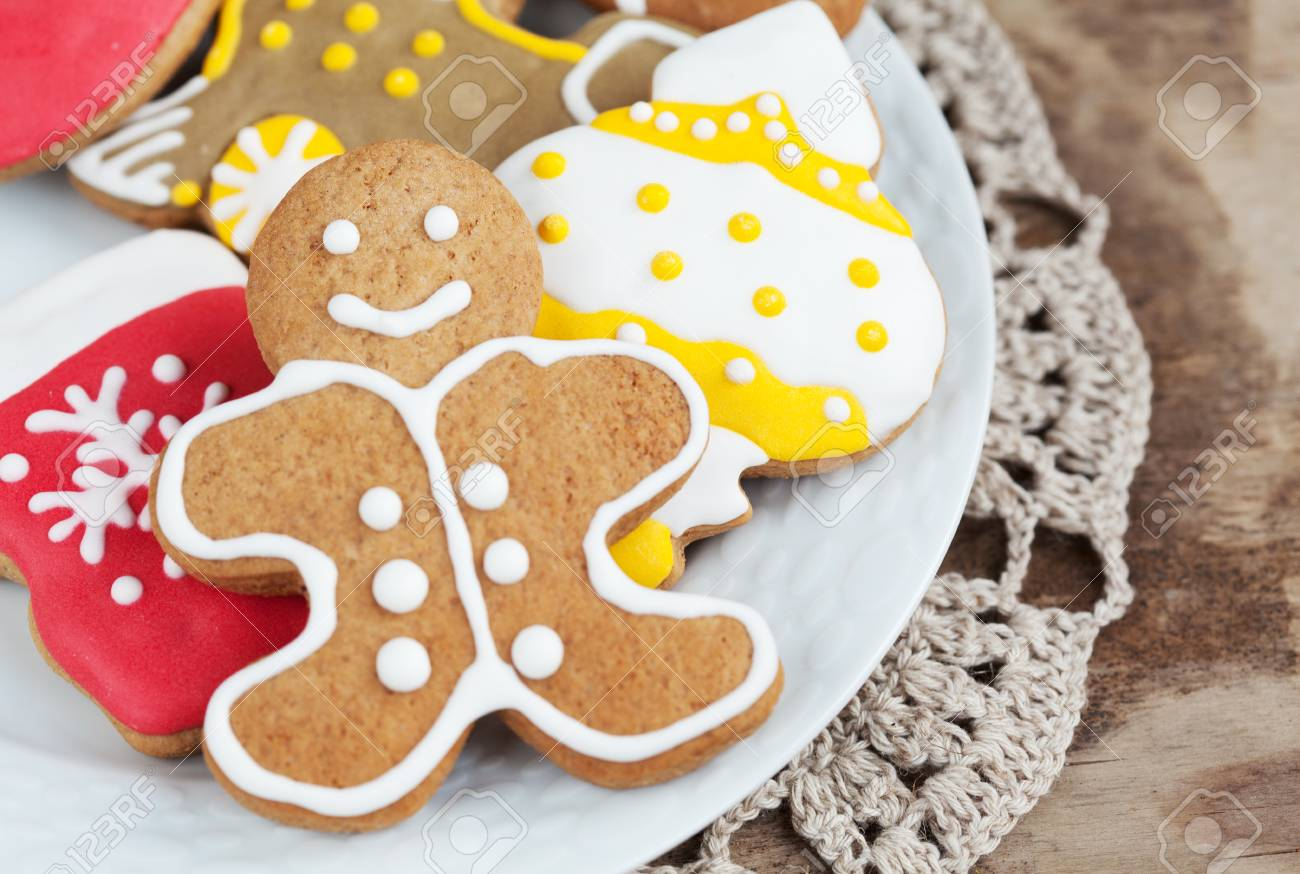 Homemade Christmas Painted Gingerbreads Gingerbread Man With