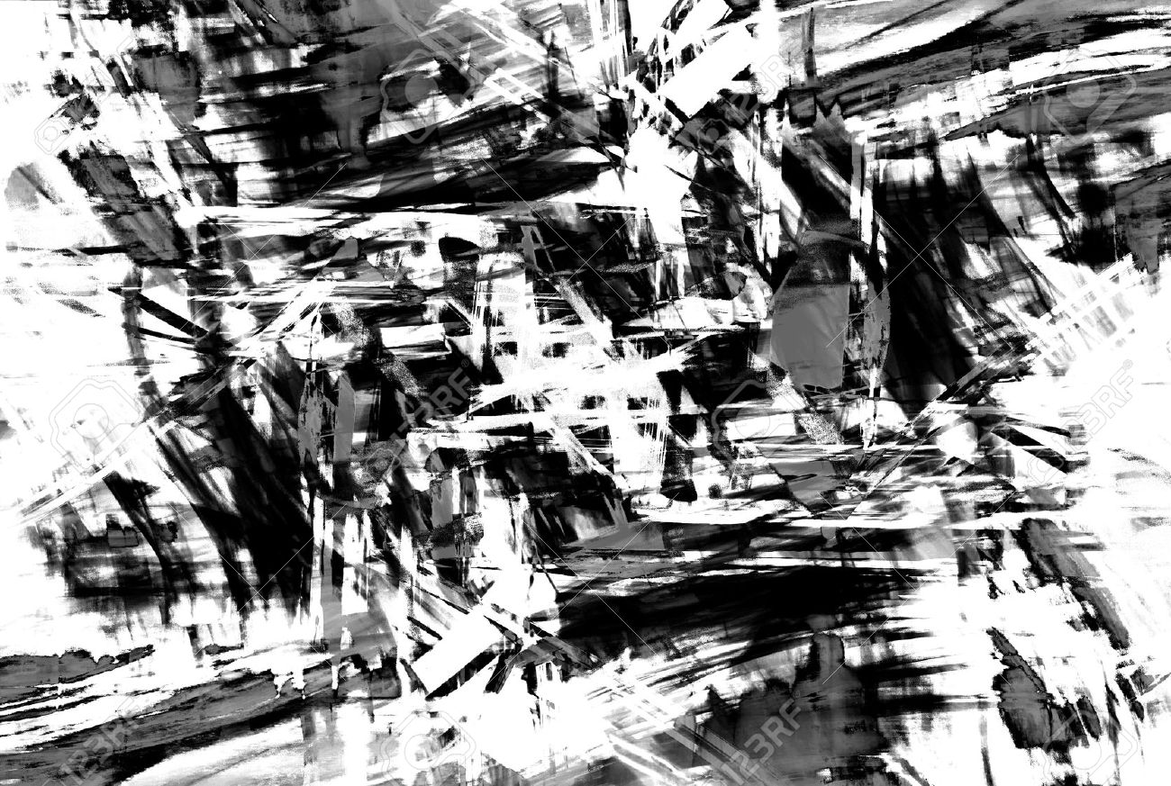 art abstract black and white pattern background in the style stock