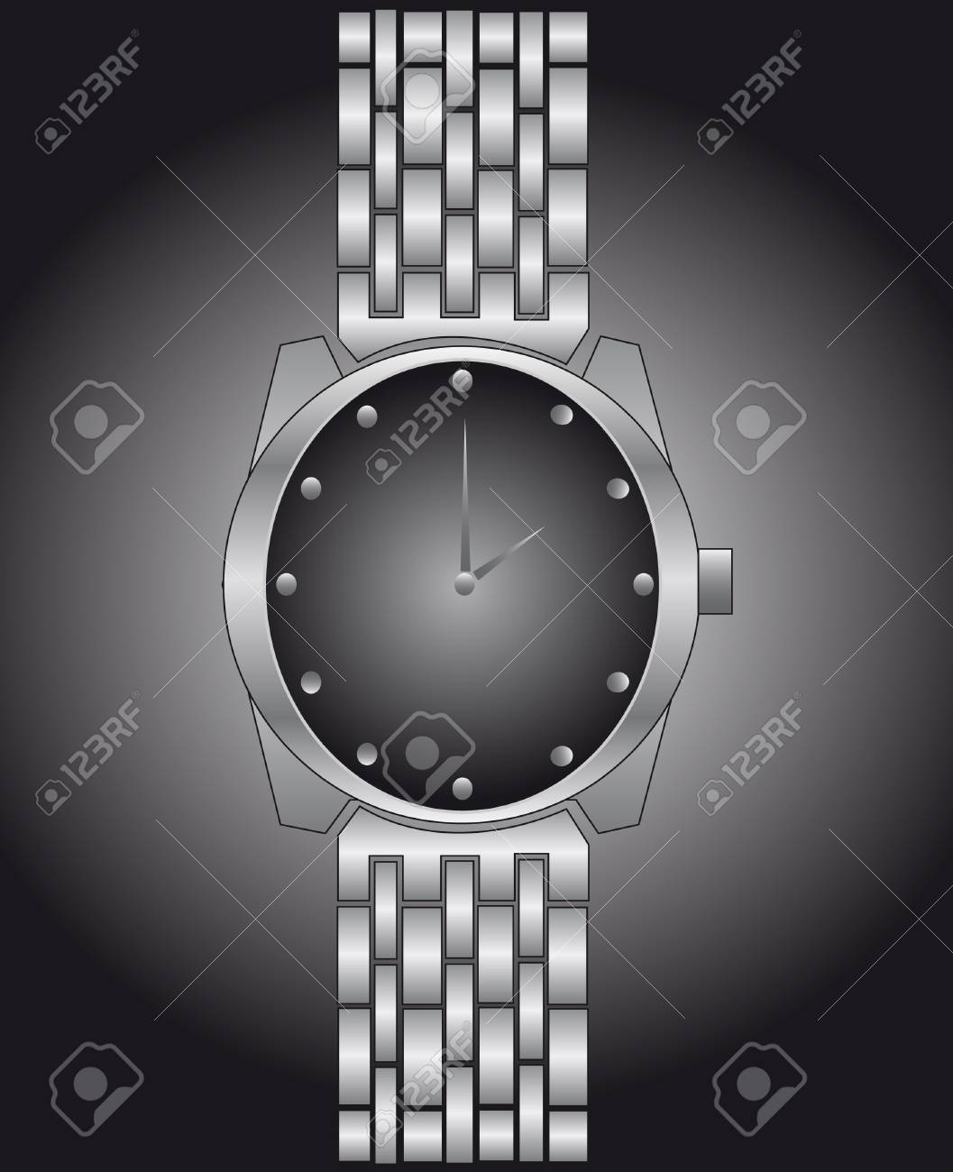Watch in a black-and-white variant Stock Vector - 4133508